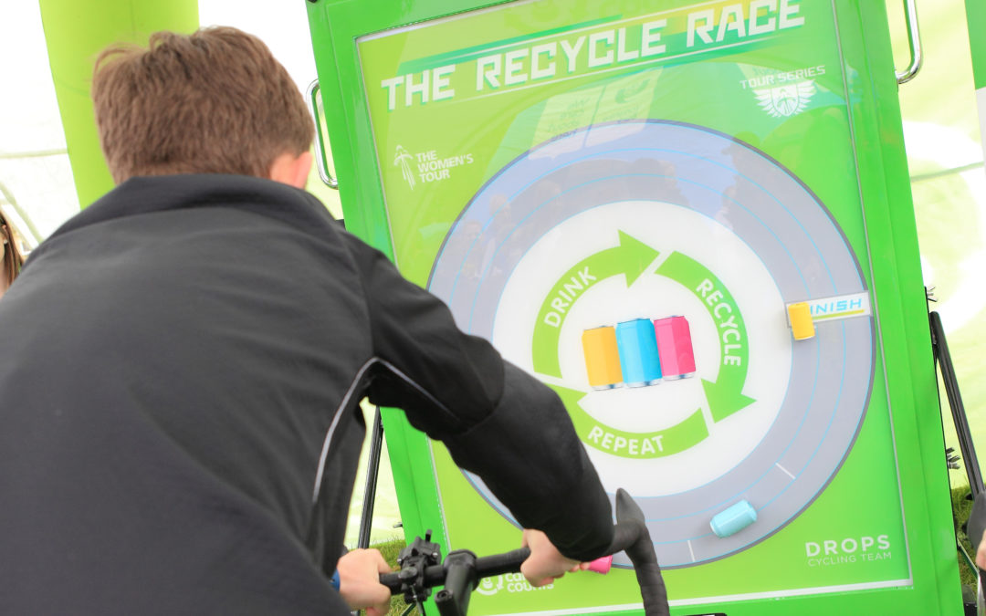 The Recycle Race with Every Can Counts and Drops Cycling